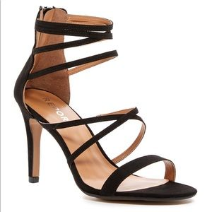 Report Black Strappy Heeled Sandals